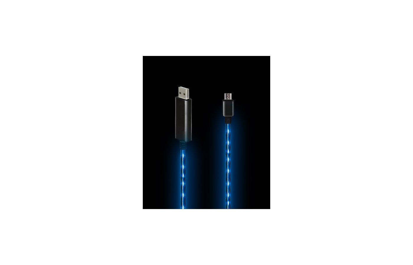 Кабель Solomon microUSB LED (0.8м.)