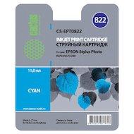 Картридж струйный Cactus CS-EPT0822 совместимый голубой для Epson Stylus Photo R270/290/RX590 (11,4ml)