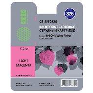 Картридж струйный Cactus CS-EPT0826 совместимый светло-пурпурный для Epson Stylus Photo R270/290 (11,4ml)
