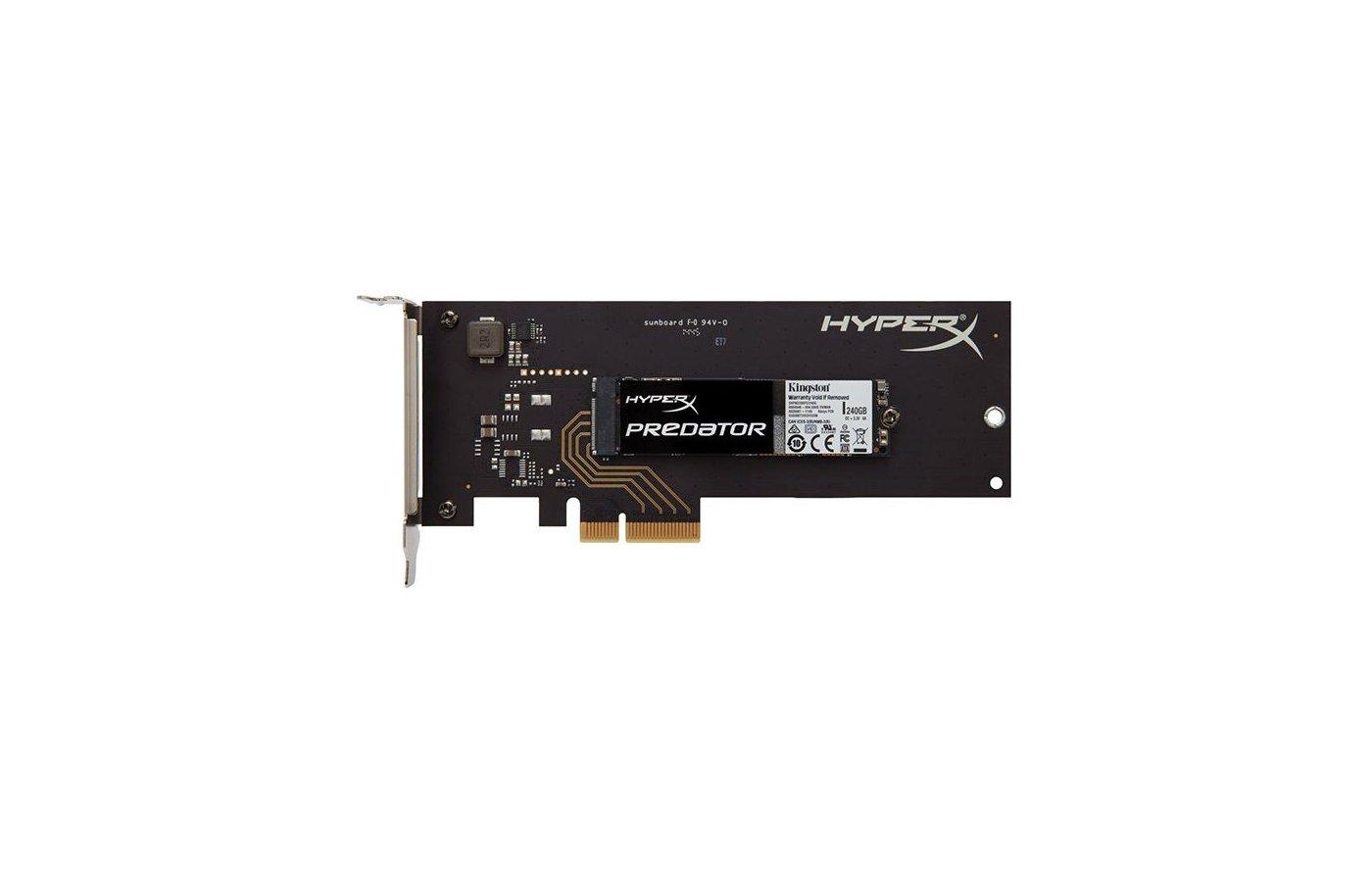 SSD жесткий диск Kingston PCI-E x2 240Gb SHPM2280P2H/240G HyperX