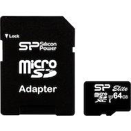 Фото Карта памяти Silicon Power microSDXC 64Gb Class 10 + адаптер (SP064GBSTXBU1V10-SP)