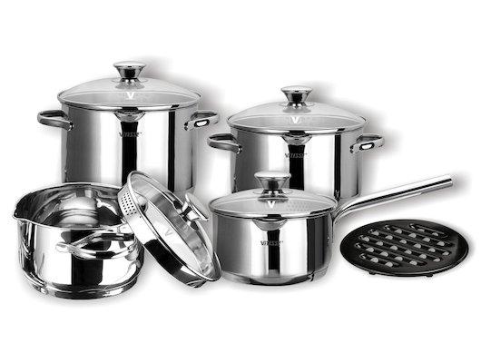 Набор посуды  VITESSE VS-1029 Набор посуды 9 пр н/ст