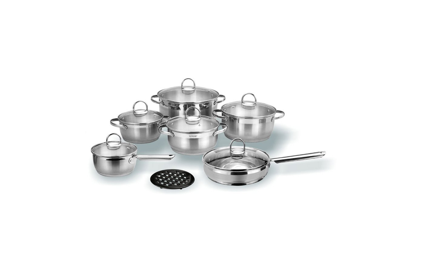 Набор посуды  VITESSE VS-1043 Набор посуды 13 пр н/ст
