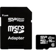Карта памяти Silicon Power microSDHC 16Gb Class 10 + адаптер (SP016GBSTHBU1V10-SP)