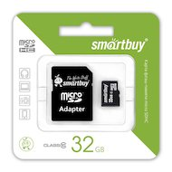Фото Карта памяти SmartBuy microSDHC 32Gb Class 10 + адаптер