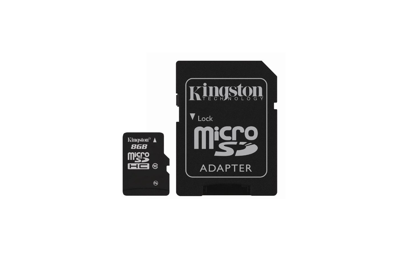 Карта памяти Kingston microSDHC 8Gb Class 10 + адаптер (SDC10/8GB)