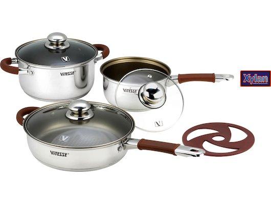 Набор посуды  VITESSE VS-2030 Набор посуды 7 пр н/ст