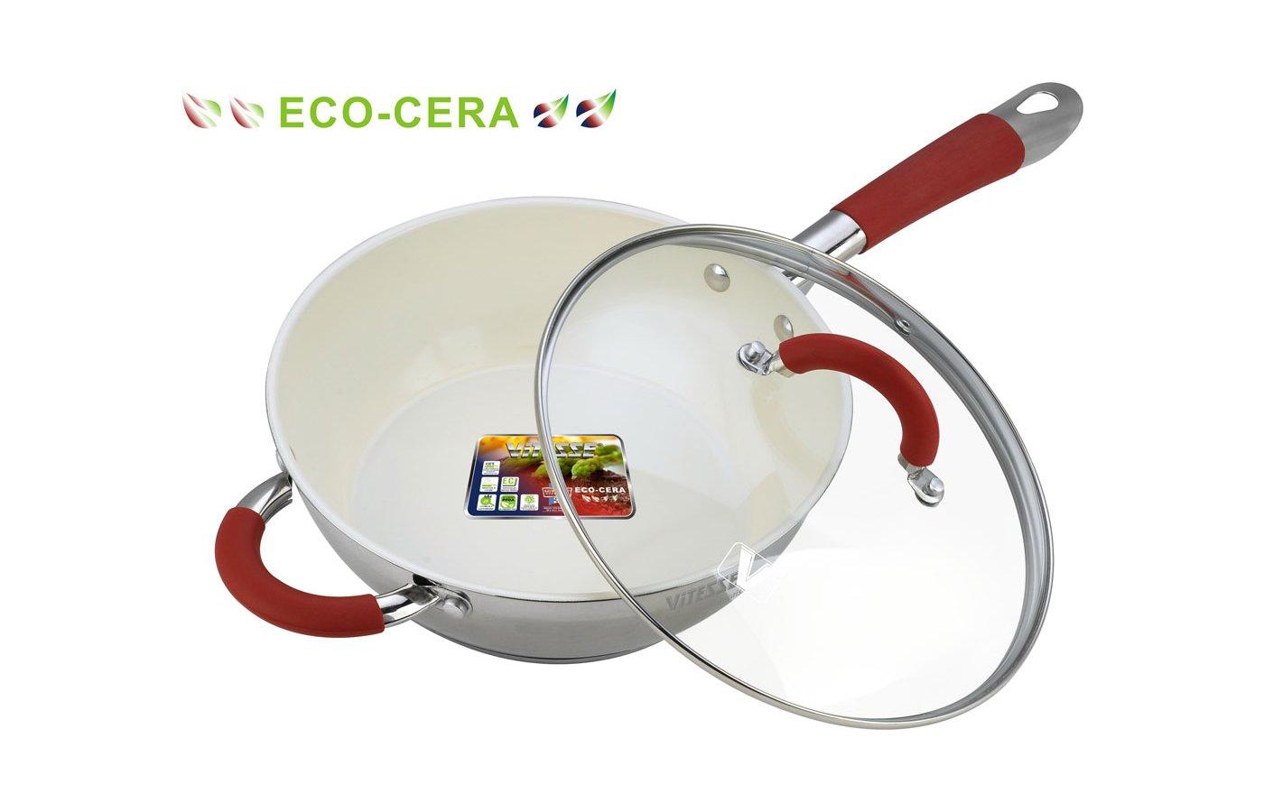 Сковорода VITESSE VS-2037 Сков со с/к 24см 3л Керам