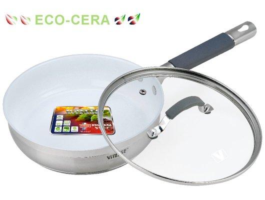 Сковорода VITESSE VS-2103 Сков со с/к 24 см 2,7л Керам