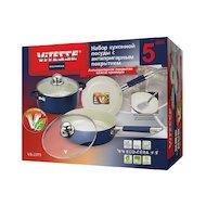 Набор посуды  VITESSE VS-2223 Набор посуды 5 пр алюм