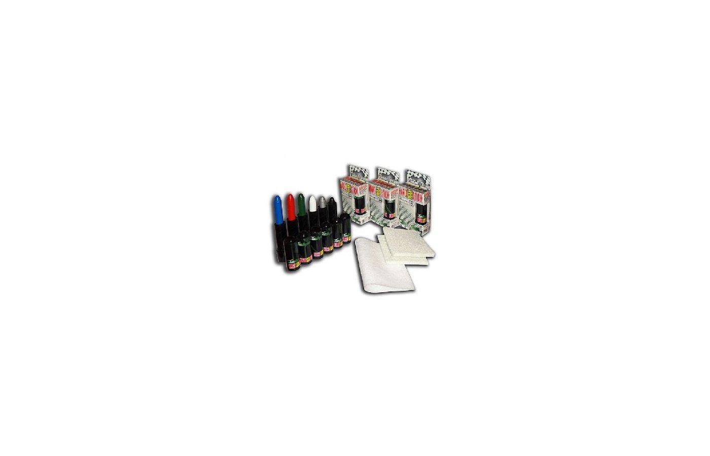 Корректор ЗЕБРА ТМ 1327 HardWAX Stick Восковой карандаш серый(серебро)