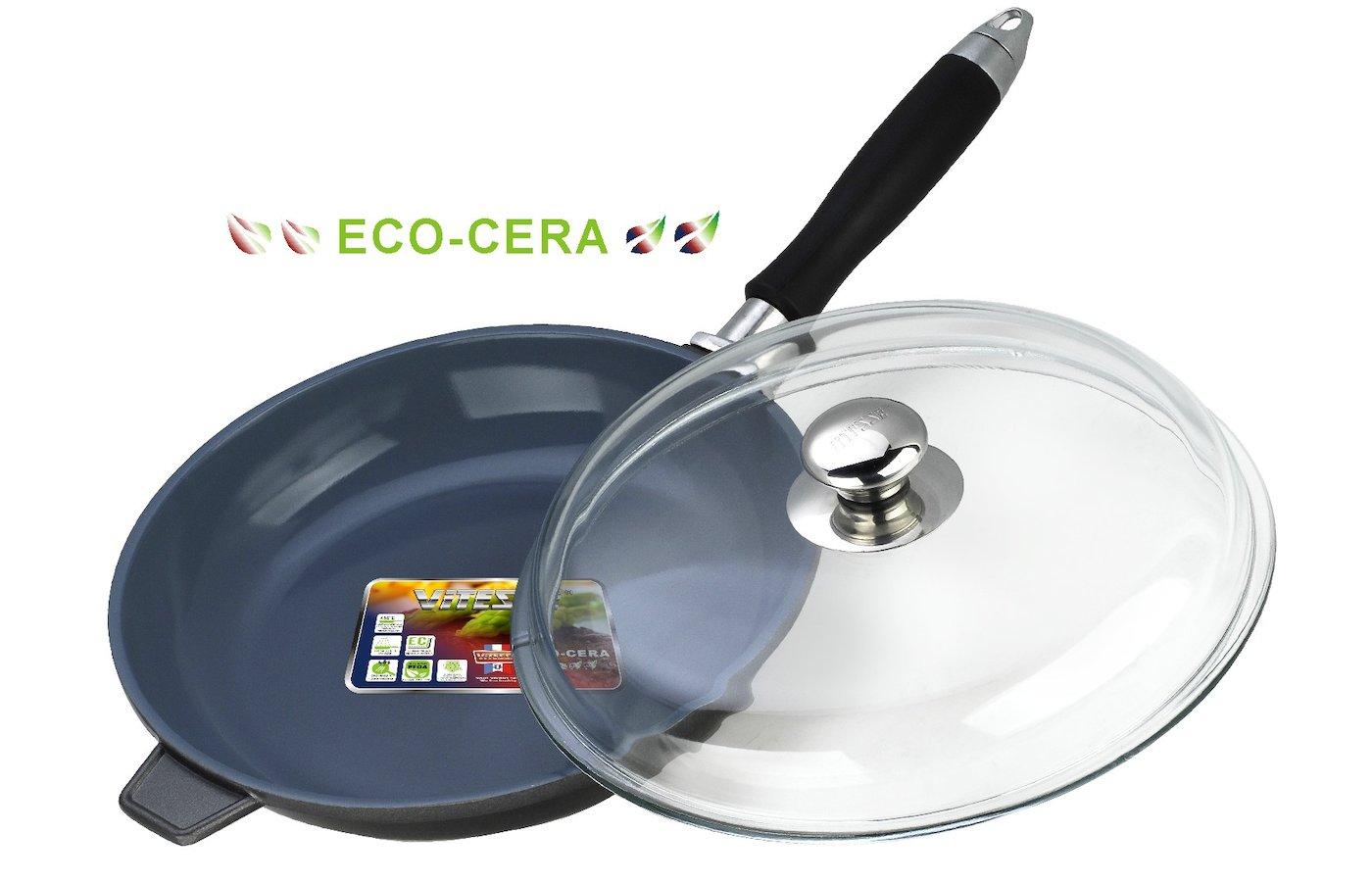 Сковорода VITESSE VS-2272 Ск с/крыш, с/руч24см керам.