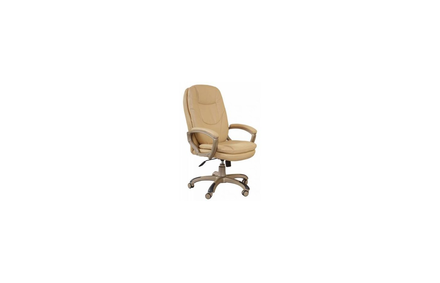 Бюрократ CH-868YAXSN/Beige бежевый искусственная кожа (пластик золото)