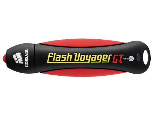 Флеш-диск Corsair 32Gb Voyager GT CMFVYGT3B-32GB USB3.0 черный/красный