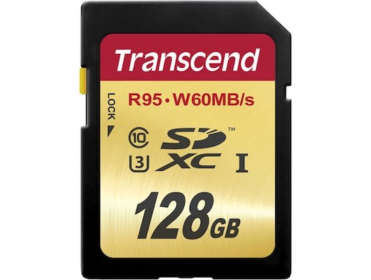 Карта памяти Transcend SDXC 128Gb Class 10 UHS-I U3 (TS128GSDU3)