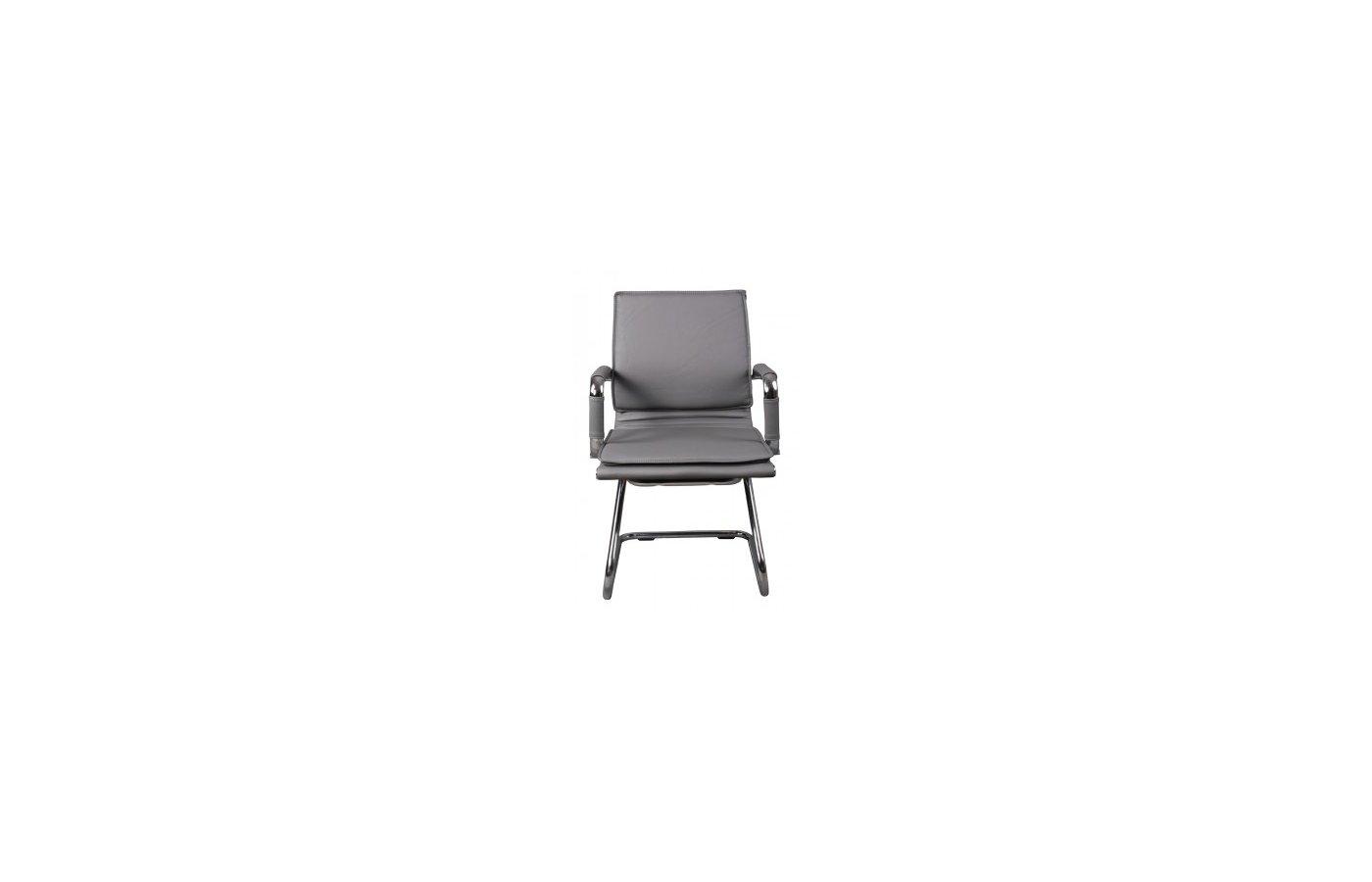 Бюрократ CH-993-Low-V/grey низкая спинка серый искусственная кожа полозья хром