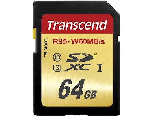 Карта памяти Transcend SDXC 64Gb Class 10 UHS-I U3 (TS64GSDU3)