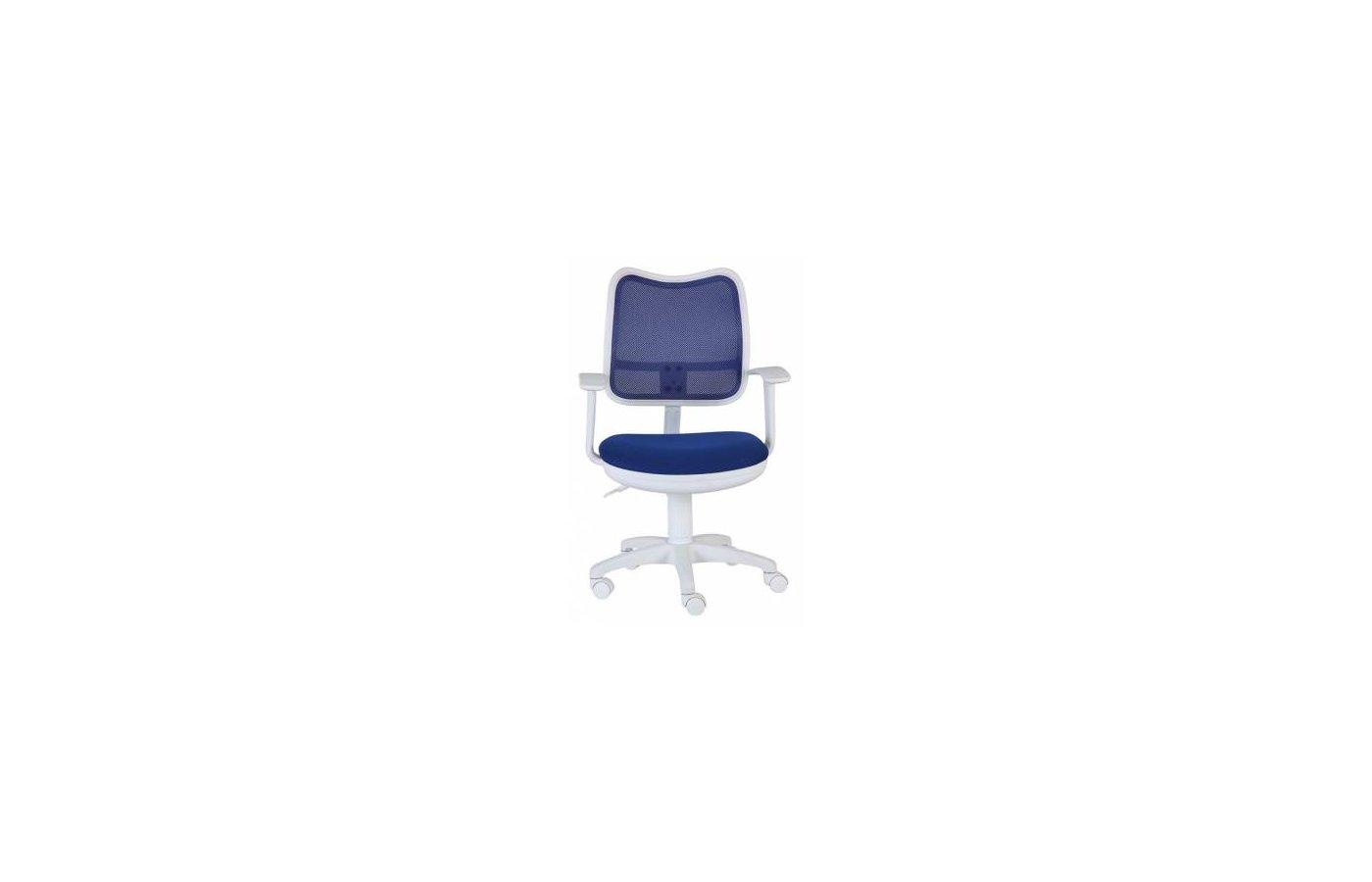 Бюрократ CH-W797/BL/TW-10 спинка сетка синий сиденье синий TW-10 (пластик белый)