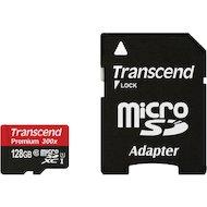 Фото Карта памяти Transcend microSDXC 128Gb Class 10 + адаптер (TS128GUSDU1)