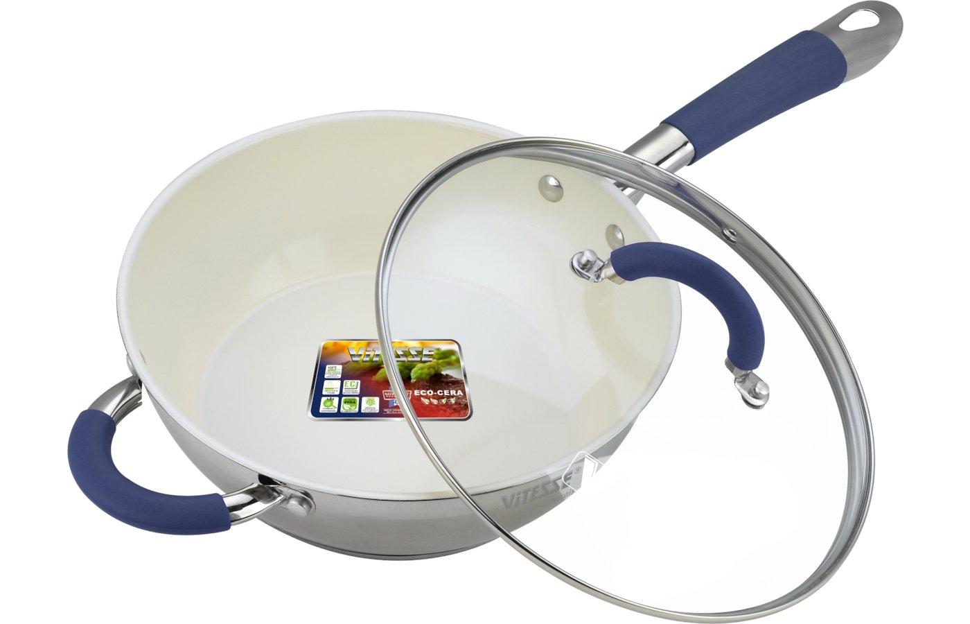 Сковорода VITESSE VS-2045 Сков со с/к 24 см 2,7л Керам