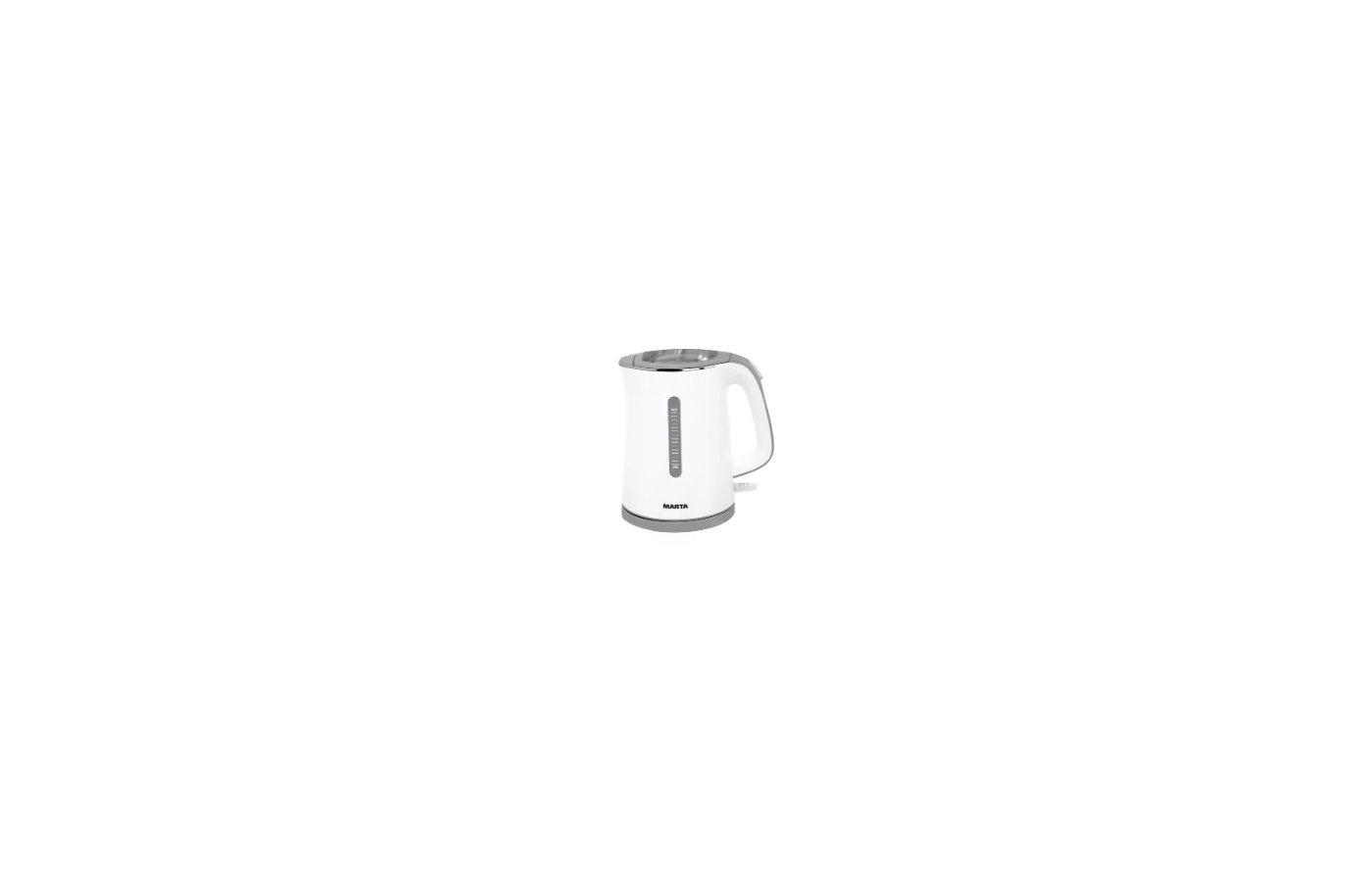 Чайник электрический  MARTA MT-1065 белый/серый