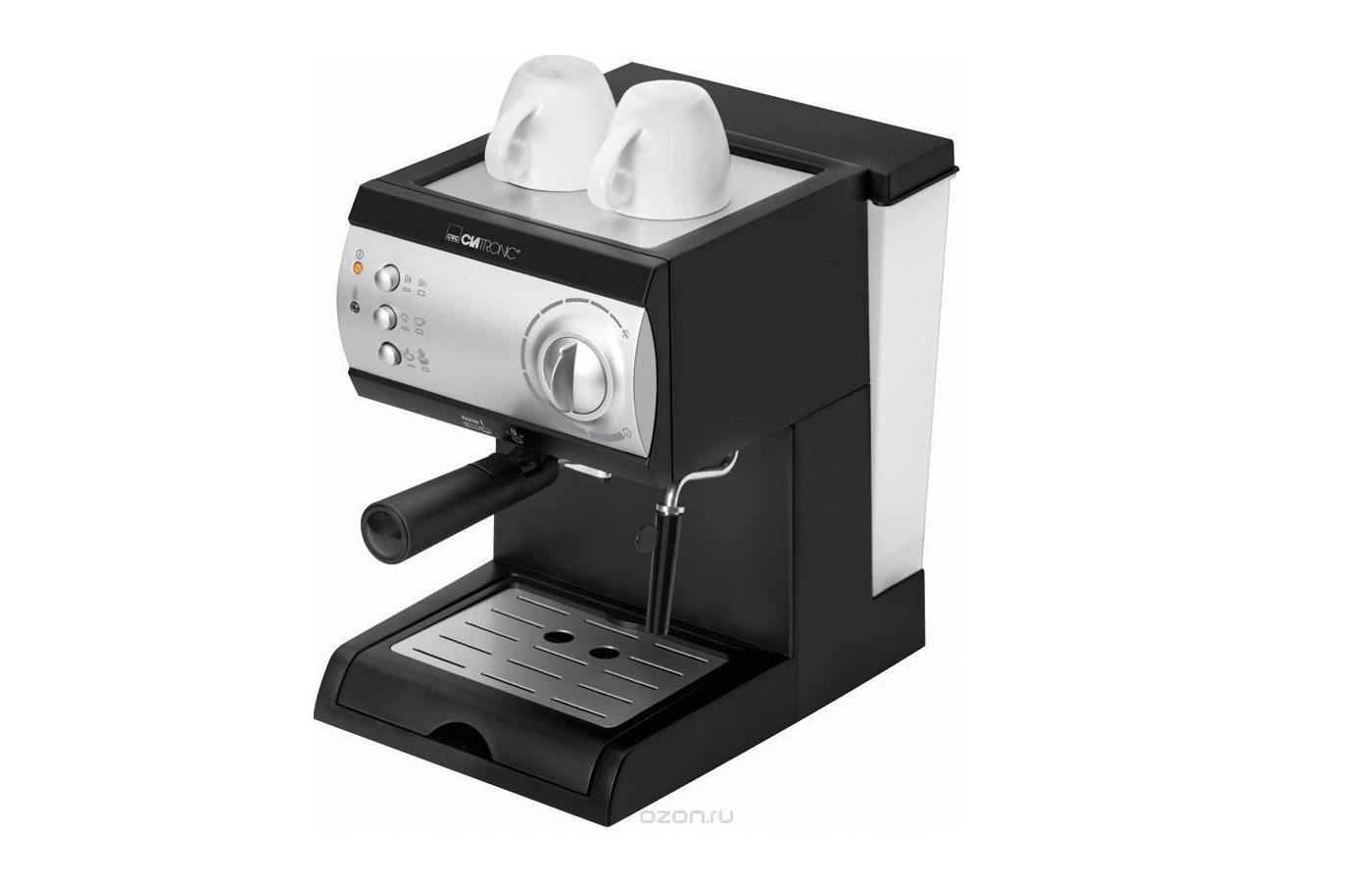 Кофеварка CLATRONIC ES 3584 schwarz-silber