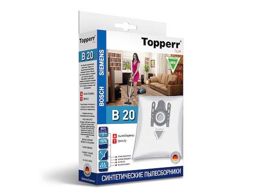 Пылесборники TOPPERR LUX 1414 B 20 Cинтетический д/пылесоса BOSCH-SIEMENS (Тип ABCDEFGH) 4 шт.в ед.