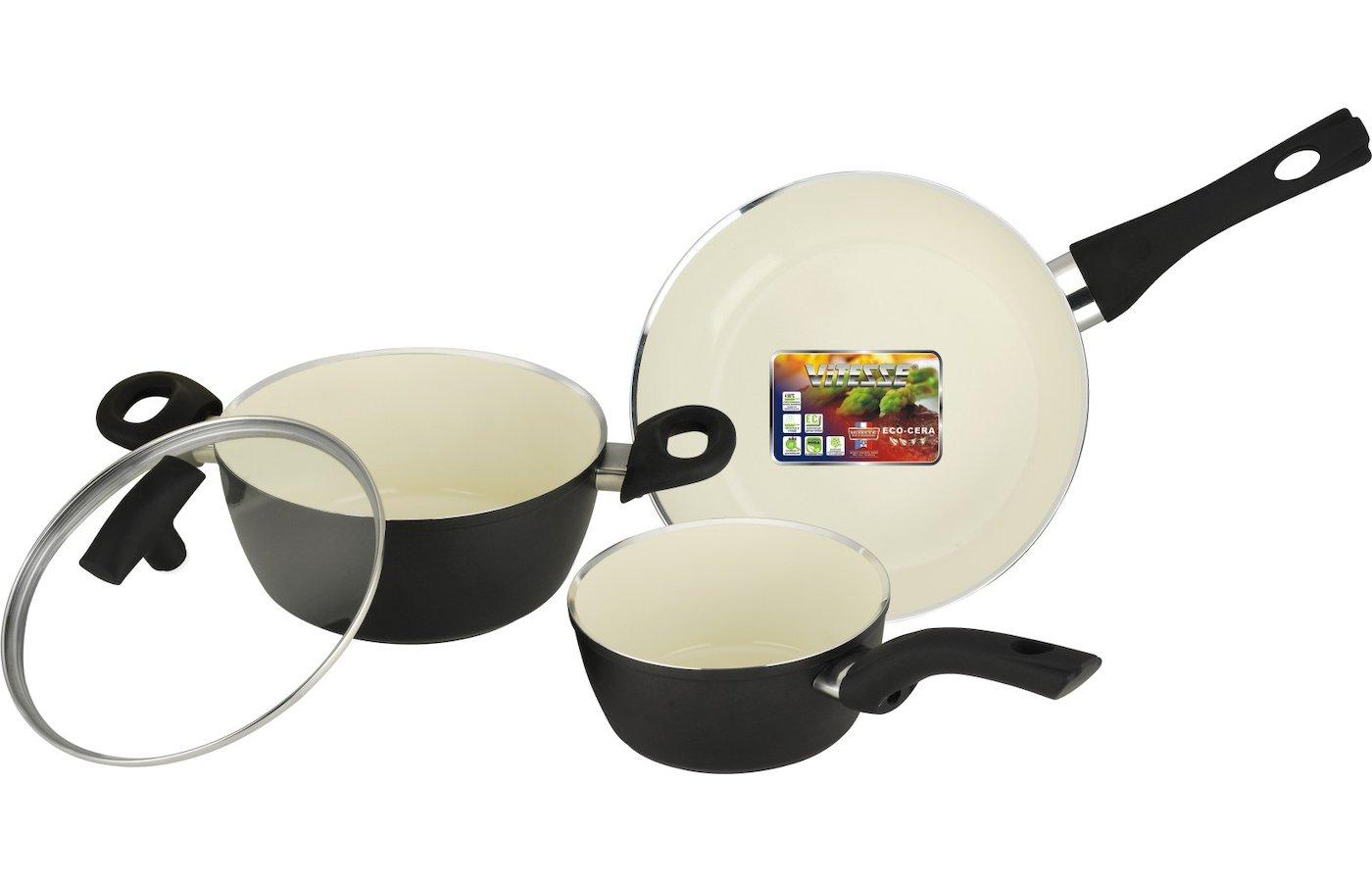Набор посуды  VITESSE VS-2901 Набор посуды 4 пр алюм