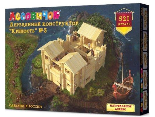Конструктор ЛЕСОВИЧОК les019 Крепость №3