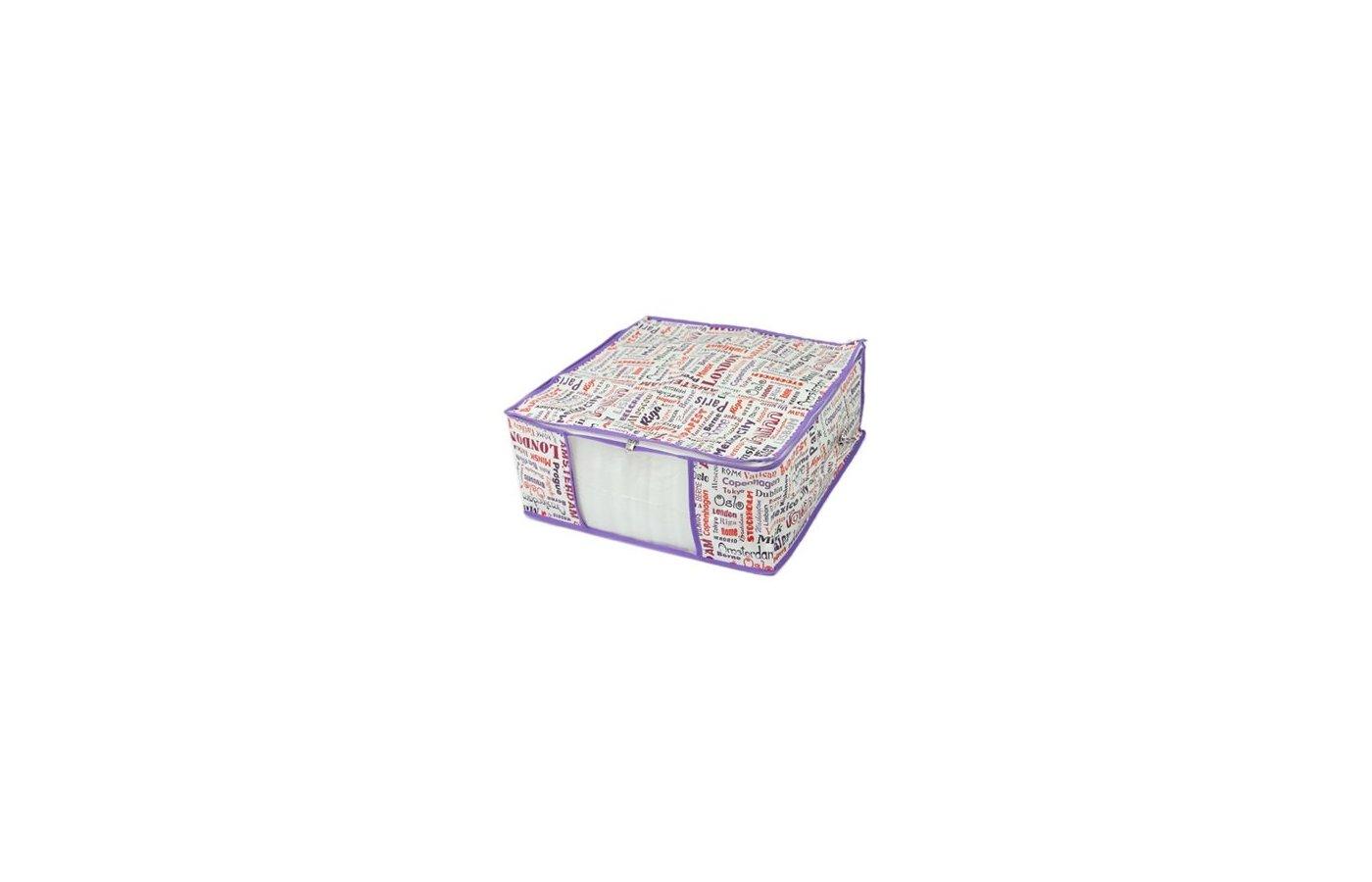 Емкости для хранения одежды VETTA 457-159 City Чехол-кофр для хранения мягкий спанбонд влагостойкий 45x45x20см