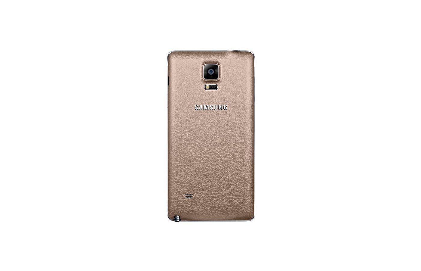 Чехол Samsung BackCover для Galaxy Note 4 (SM-N910) (EF-ON910SEEGRU) gold