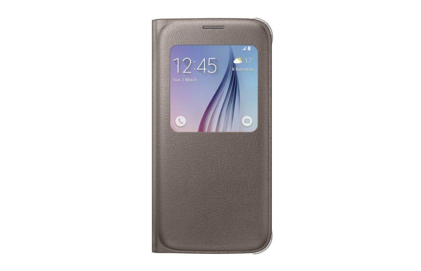 Чехол Samsung S-View для Galaxy S6 (SM-G920) (EF-CG920PFEGRU) gold