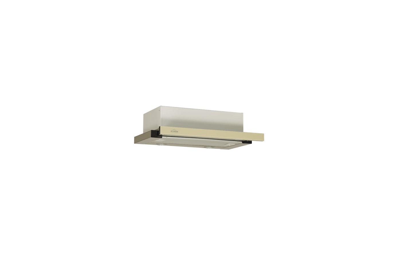 Вытяжка ELIKOR Интегра GLASS 60Н-400-В2Г нерж/стекло бежевое