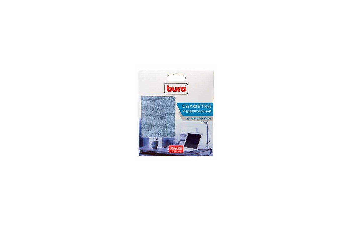 Чистящее средство BURO BU-MF Салфетка из микрофибры 25 х 25 см для удаления пыли коробка 1шт сухая