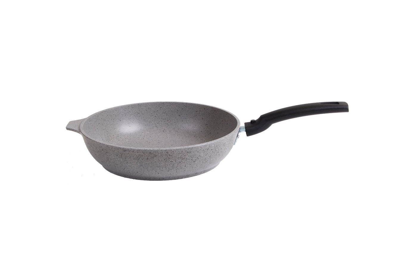 Сковорода KUKMARA смс246а Сковорода 240/60мм со съемной ручкой (светлый мрамор)