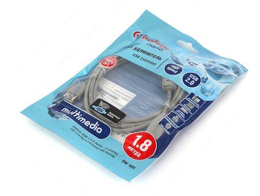 USB Кабель BELSIS BW 1401 USB2.0 A(m) - A(f) удлинитель 1.8м