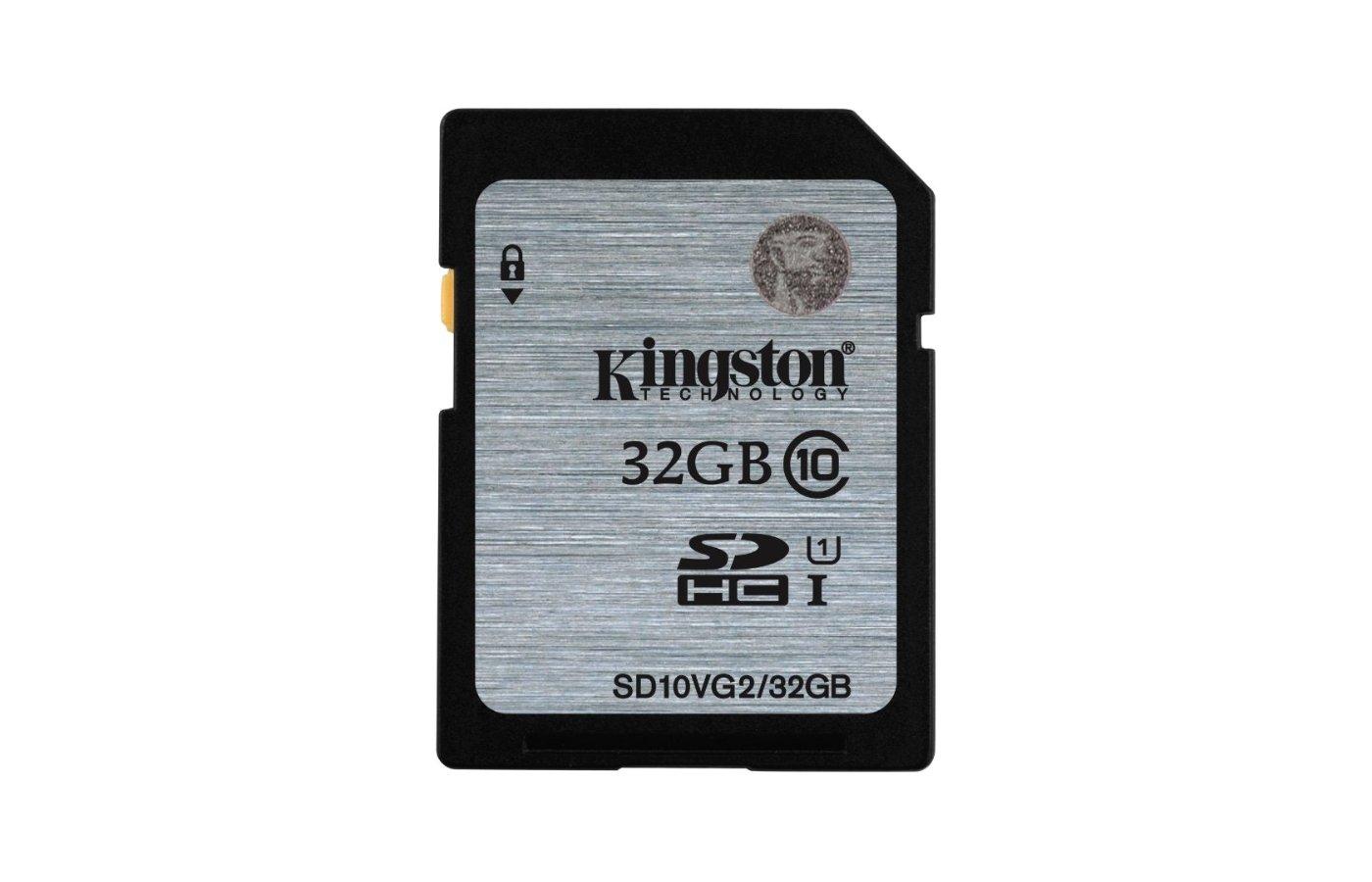 Карта памяти Kingston SDHC 32Gb Class 10 UHS-I 45MB/s (SD10VG2/32GB)