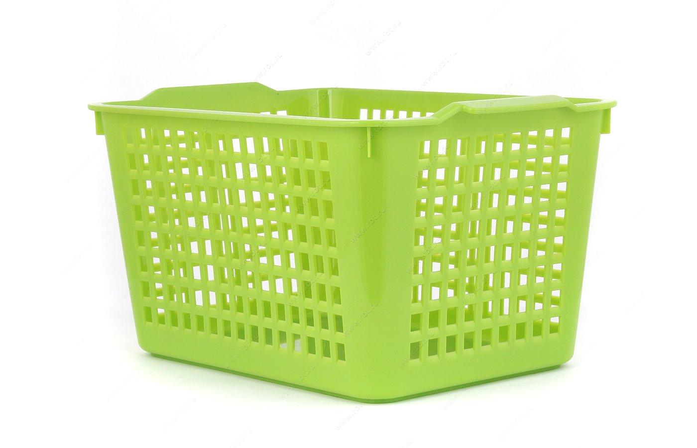 контейнеры для продуктов БЫТПЛАСТ 4312245 Корзинка уинвер. прям. выс. (27.2/19/14.5)