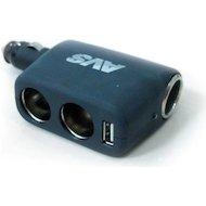 Разветвитель  AVS CS-311 U (JL403В) + USB 12/24V 3 в 1