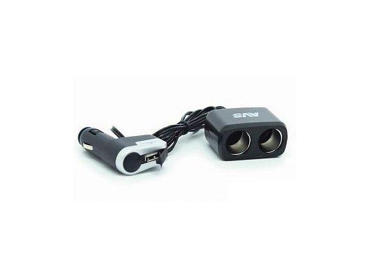 Разветвитель  AVS CS-213U (JL402B) + USB 1224 3 в 1 с проводом