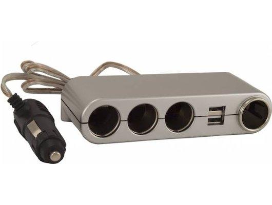 Разветвитель  INTEGO С-06 серебро