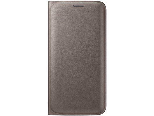 Чехол Samsung Flip Wallet для Galaxy S6 Edge (SM-G925) (EF-WG925PFEGRU) gold