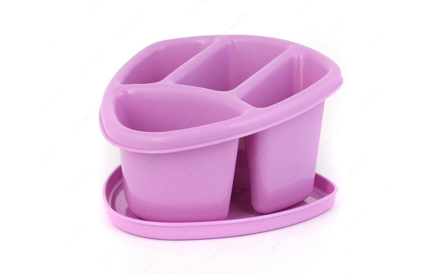 Подставки для посуды БЫТПЛАСТ с12092 Сушилка д/стол.приборов 4--х секц.