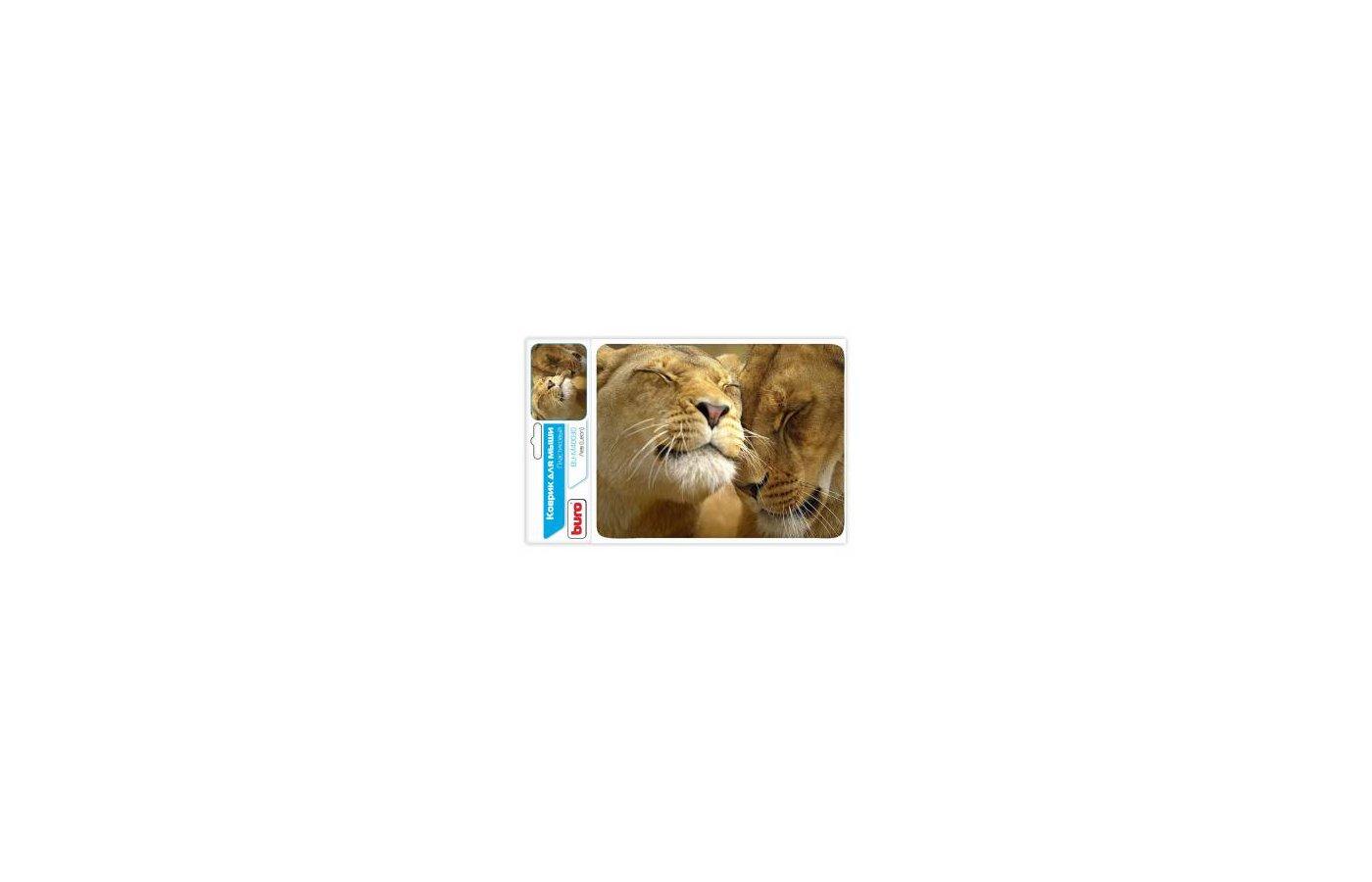 Коврик для мыши BURO BU-M40030 рисунок/лев
