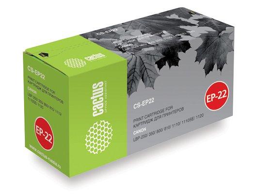 Картридж лазерный Cactus CS-EP22S для Canon LBP-250 350 800 810 1110 1110SE 1120 (2500стр.)