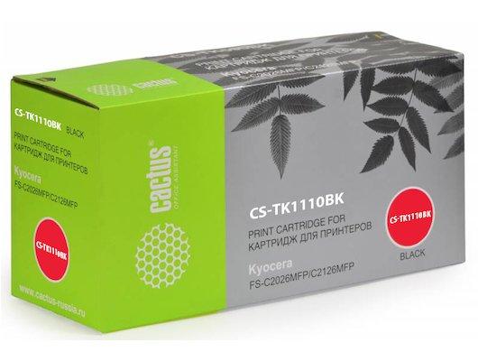 Картридж лазерный Cactus CS-TK1110BK совместимый черный для Kyocera Mita FS 1020MFP/1040/1120MFP (2500стр.)