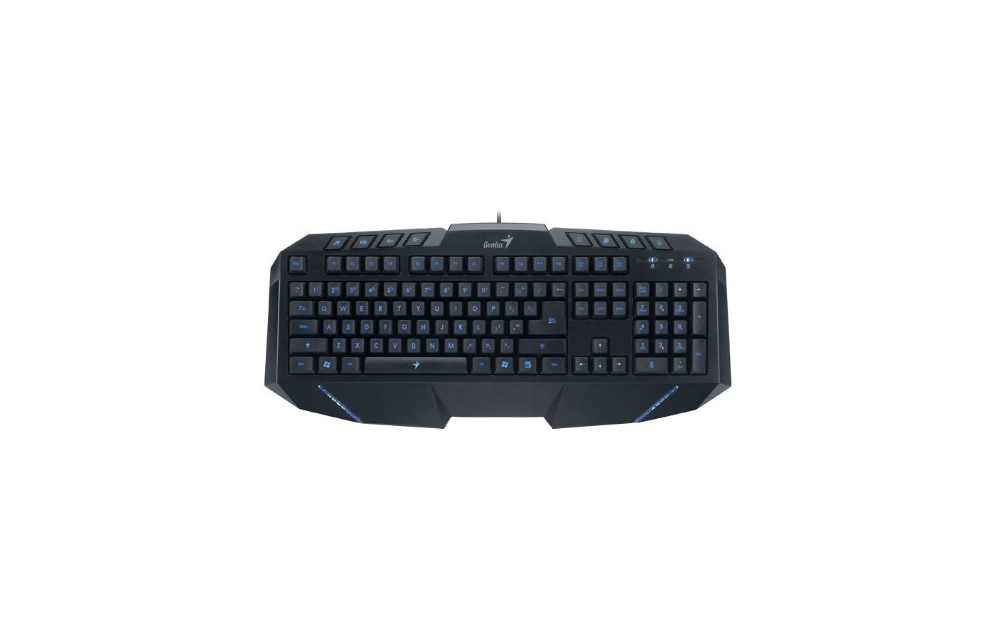 Клавиатура проводная Genius G265 черный/черный USB Multimedia LED