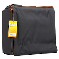 Фото Кейс для ноутбука Jet.A LB15-12 до 15,6 (Черный/оранжевый, качественный Gucci-нейлон, ремень с изменением длины, SIZE