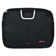 Фото Кейс для ноутбука Jet.A LB15-28 до 15,6 (Черный, качественный нейлон/полиэстер, современный дизайн, SIZE 355x90x280мм)
