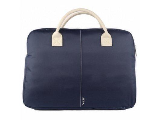 Кейс для ноутбука Jet.A LB15-72 до 15,6 (Синий, ЖЕНСКАЯ, материал-нейлон, LUXURY дизайн, съемный ремень, SIZE 400x70x3